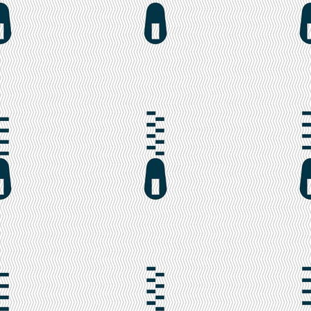 parting: Zipper Icon sign. Seamless pattern with geometric texture. Vector illustration