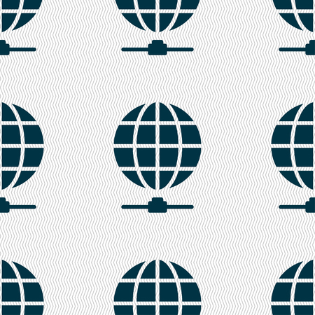 webhost: Website Icon sign. Seamless pattern with geometric texture. Vector illustration