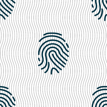 digitized: Scanned finger Icon sign. Seamless pattern with geometric texture. Vector illustration Illustration