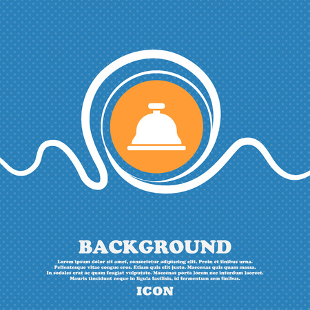 Dish with lid icon sign. Blue and white abstract background flecked with space for text and your design. Vector illustration