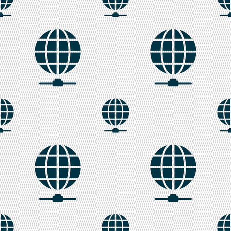 webhosting: Website Icon sign. Seamless pattern with geometric texture. Vector illustration