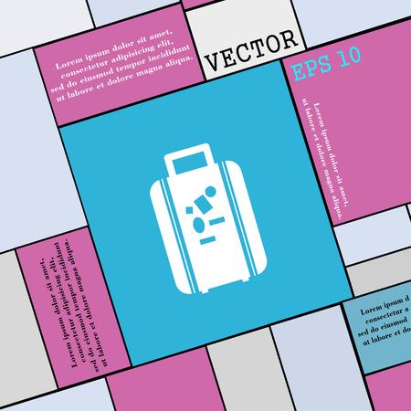 portmanteau: travel luggage suitcase icon sign. Modern flat style for your design. Vector illustration Illustration