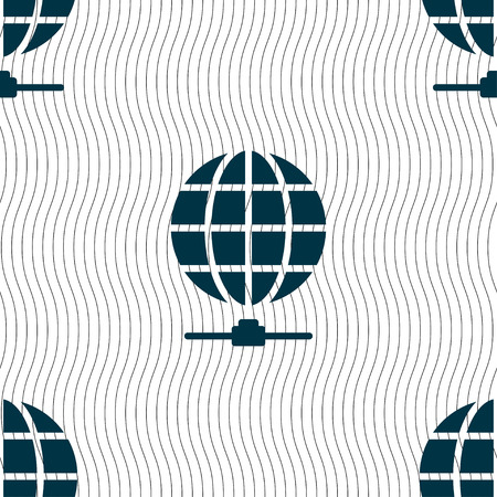 website wide window world write www: Website Icon sign. Seamless pattern with geometric texture. Vector illustration