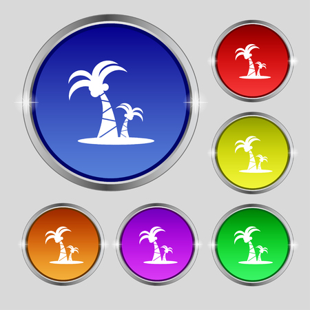 paml icon sign. Round symbol on bright colourful buttons. Vector illustration