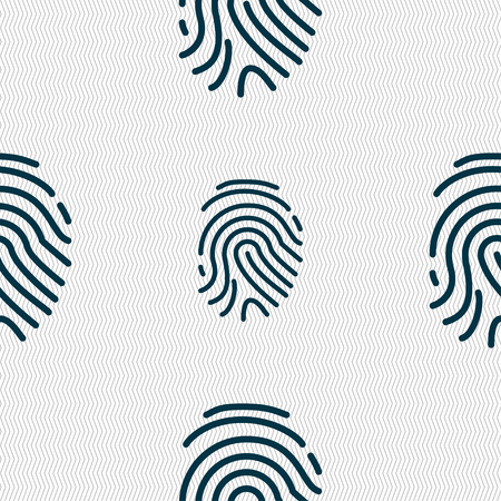 fingertip: Scanned finger Icon sign. Seamless pattern with geometric texture. Vector illustration Illustration
