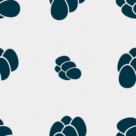 eggs icon sign. Seamless pattern with geometric texture. Vector illustration