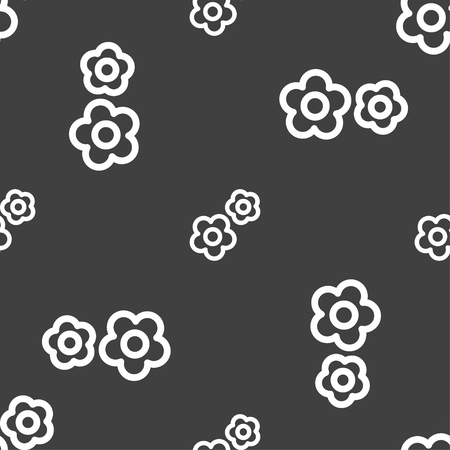 rackwheel: gear icon sign. Seamless pattern on a gray background. Vector illustration