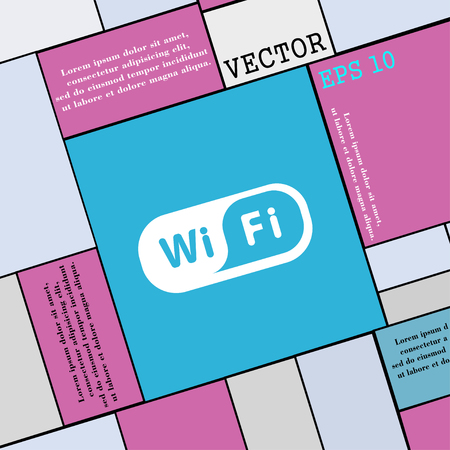 Wireless Network icon sign. Modern flat style for your design. Vector illustration