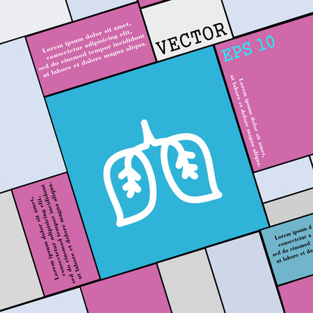 respiratory protection: lungs icon sign. Modern flat style for your design. Vector illustration