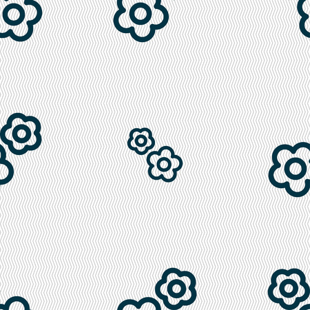 robotic transmission: gear icon sign. Seamless pattern with geometric texture. Vector illustration