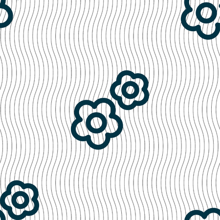 rackwheel: gear icon sign. Seamless pattern with geometric texture. Vector illustration