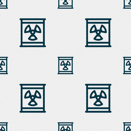 caesium: Radiation icon sign. Seamless pattern with geometric texture. Vector illustration Illustration