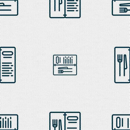 web portal: menu icon sign. Seamless pattern with geometric texture. Vector illustration Illustration