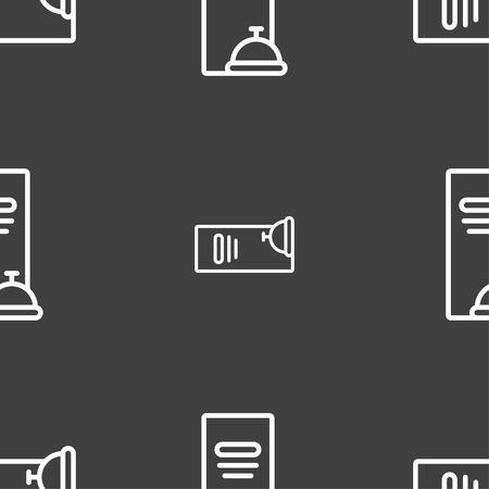 web portal: menu icon sign. Seamless pattern on a gray background. Vector illustration Illustration