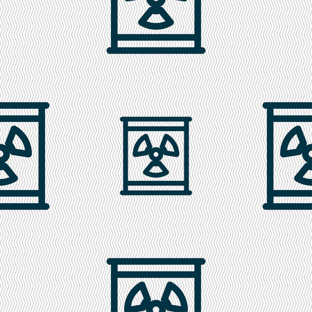 fission: Radiation icon sign. Seamless pattern with geometric texture. Vector illustration Illustration