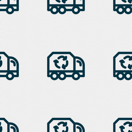 utilization: Recycle icon sign. Seamless pattern with geometric texture. Vector illustration Illustration