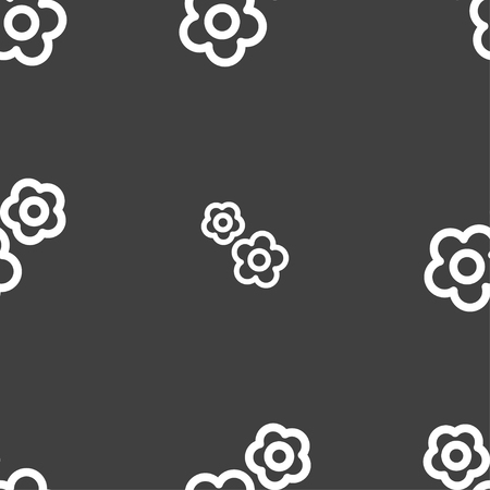 robotic transmission: gear icon sign. Seamless pattern on a gray background. Vector illustration