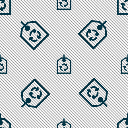 reflection of life: recycle icon sign. Seamless pattern with geometric texture. Vector illustration Illustration