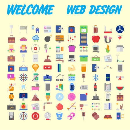 Icon Pack for designers and developers. Icons for business, office company information and services, for websites and apps. Vector illustration