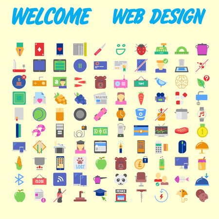 Simple set of online shopping icons design. Contains such as mobile shop, payment, e-commerce, delivery and more. Pixel Perfect. Can be used for websites, infographics, mobile apps. Vector illustration Banco de Imagens - 102485068