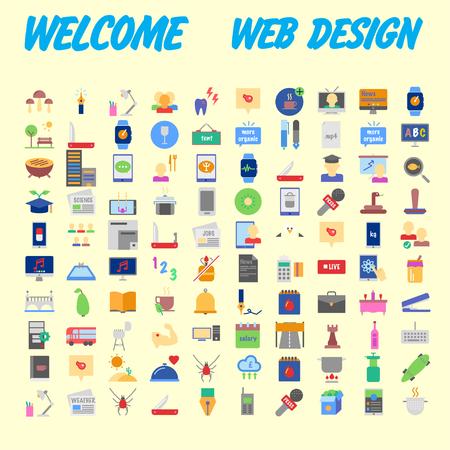 Set Of Icons, Quality Universal Pack, Big Icon Collection. Vector illustration Ilustração