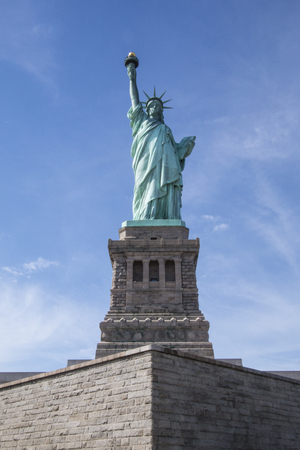 enlightening: The statue of liberty, New York City, United States