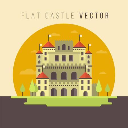 FLAT CASTLE VECTOR