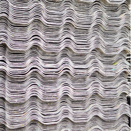 tile: Parts of roof and wall from recycle foil Stock Photo