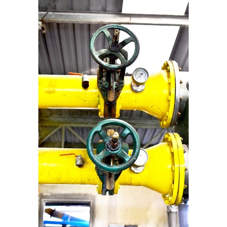 industrial: Shaft and machine Stock Photo