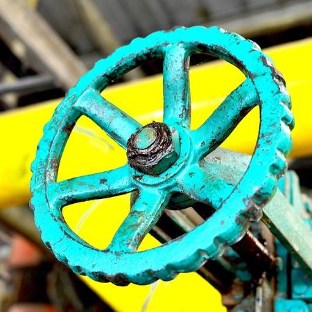 iron: Shaft and machine Stock Photo