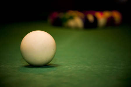cue stick: billiards Stock Photo