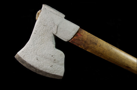 timbering: Old ax used to form timber when timbering houses
