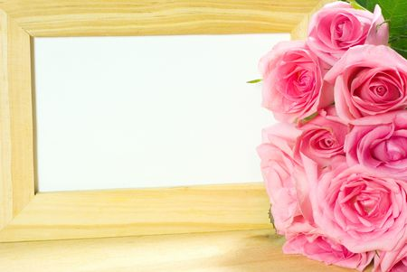 Pink Roses and Photo Frame photo