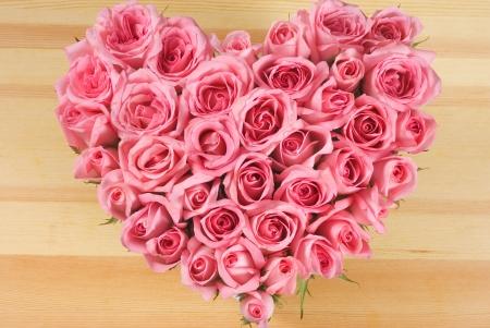 Roses in Love Shape Stock Photo - 8052811