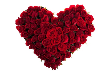 bunch of red roses: Red Roses in Love Shape