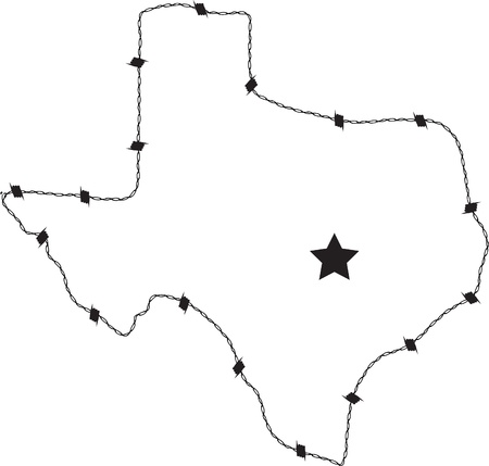 Texas made from barb wire