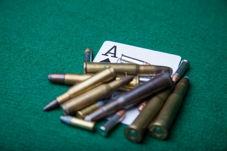 Ace of spades with bullets Stock Photo - 22145542