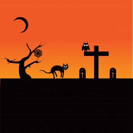 Halloween Theme 向量圖像