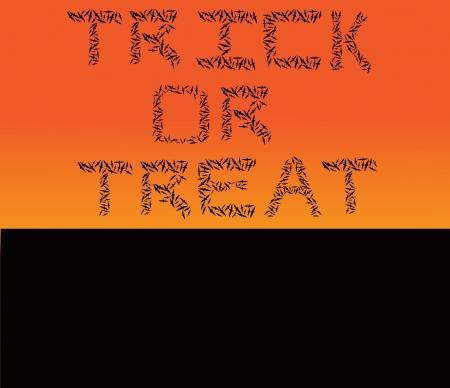 Halloween bats - Trick or Treat Иллюстрация