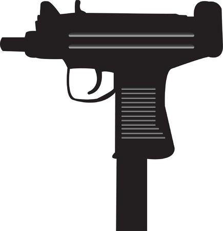 Uzi machine gun Иллюстрация