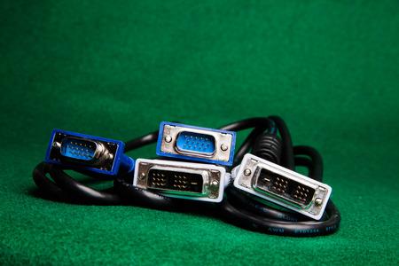 DVI and VGA cables