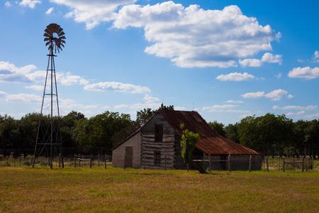 Barn and Windmill
