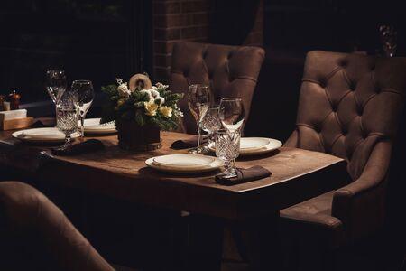 Table served for Christmas dinner Reklamní fotografie