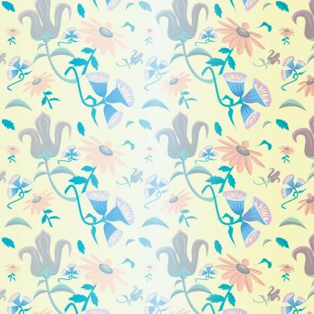 Vintage floral pattern for background use Illustration
