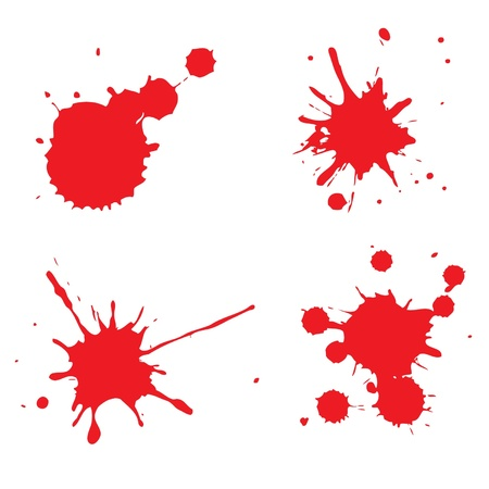blood splatter: This image is a vector illustration and can be scaled to any size without loss of resolution  Illustration