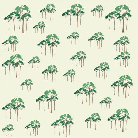 Tree pattern Ilustracja