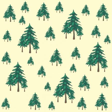 mixed media: tree background Illustration