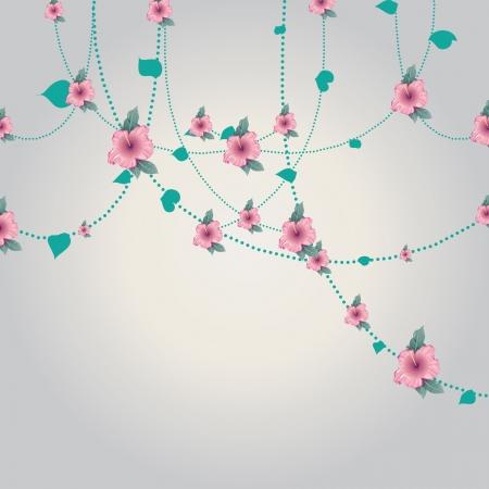 Floral lines Illustration