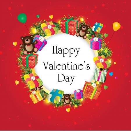 happy valentines day  Stock Vector - 18513817