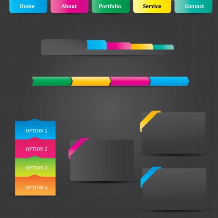 Web UI Elements Stock Vector - 18569192